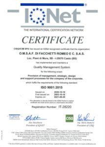 Anteprima certificato IQNET